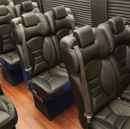 Passenger seats for DreamRide Luxury Transportation