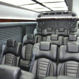 Luxury minibus interior