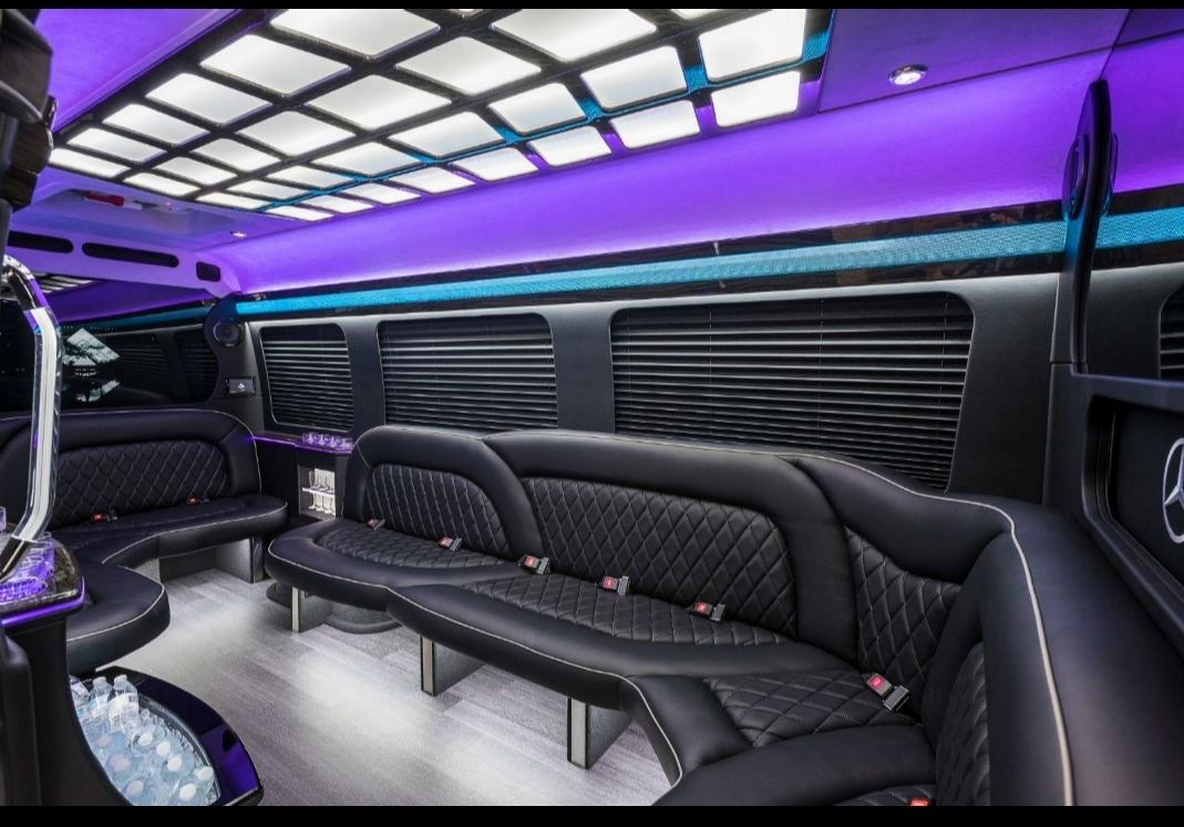 Mercedes Benz White Luxury Vip Party Bus Edition